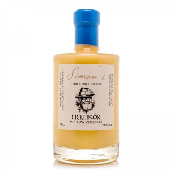 Produktbild einer Flasche Simon's Eierlikör mit Rum