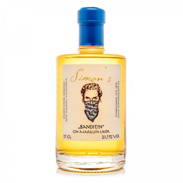 Produktbild einer Flasche Simon's Gin-Marillen-Likör