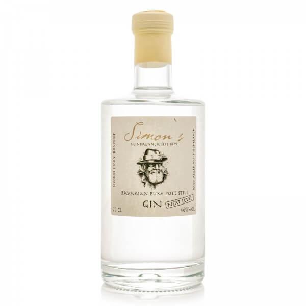 Produktbild einer Flasche Simon's Bavarian Pure Pott Still Gin Next Level