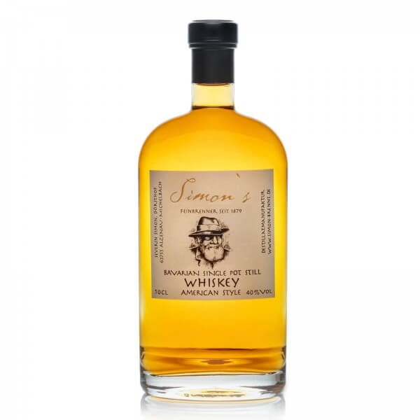 Produktbild einer Flasche Simons Bavarian Single Pot Still Whiskey American Style