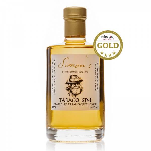 Produktbild einer Flasche Tabaco Gin von Simon's Feinbrennerei