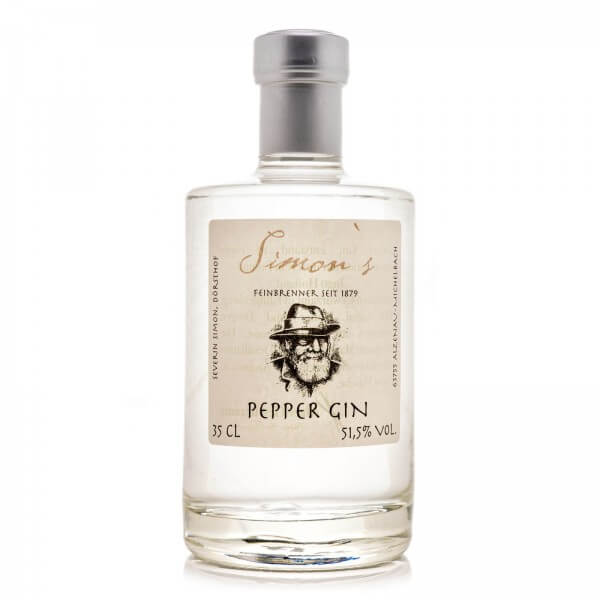 Produktbild einer Flasche Simon's Pepper Gin