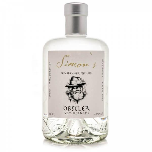 Produktbild einer Flasche Simon's Obstler Schnaps vom Kernobst