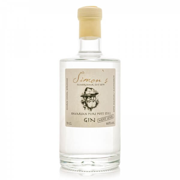 Produktbild einer Flasche Simon's Bavarian Pure Pott Still Gin Next Level